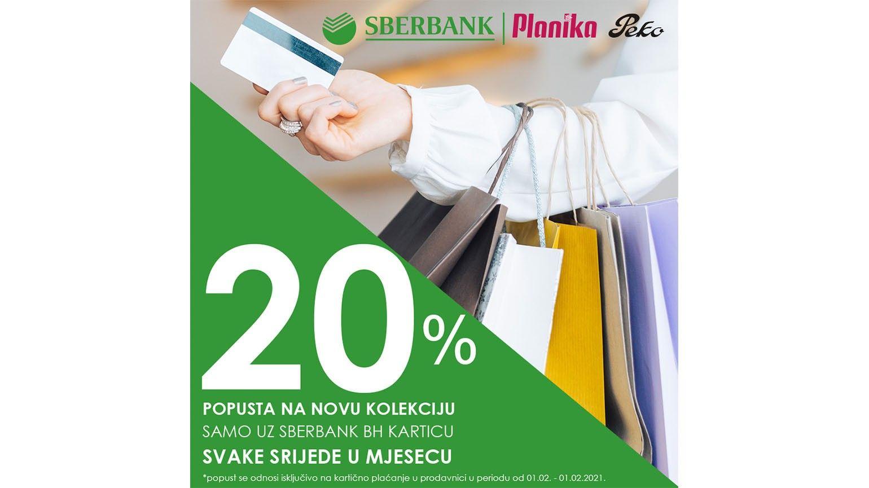 Planika & Sberbank srijeda: -20 % popusta na novu kolekciju