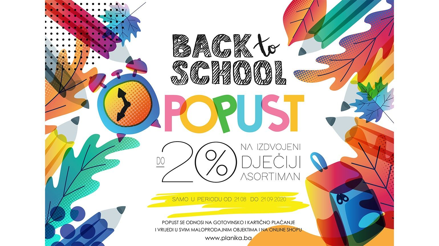 BACK TO SCHOOL POPUST DO -20%