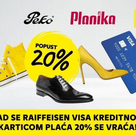 Raiffeisen akcija: Kad se Visa kreditnom karticom plaća 20% se vraća